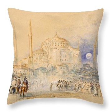Hagia Sofia Throw Pillow by Joseph Mallord William Turner