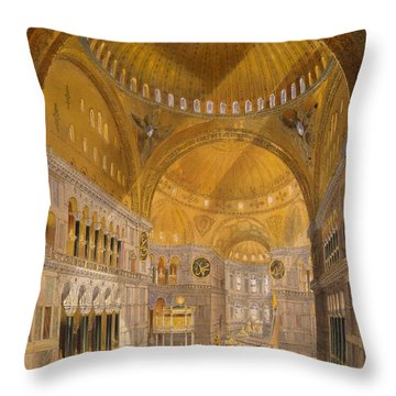 Hagia Sophia, Constantinople, 1852 Throw Pillow