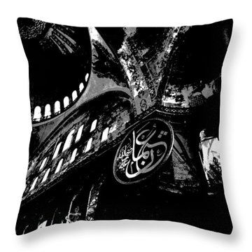 Hagia Sophia Museum Ceiling High Contrast Throw Pillow by Jacqueline M Lewis