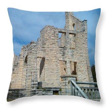 Haha Tonka Castle 2 Throw Pillow by Sara  Raber