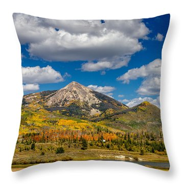 Hahn Peak And Steamboat Lake State Park Throw Pillow