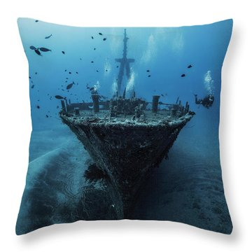 Old Boat Throw Pillows