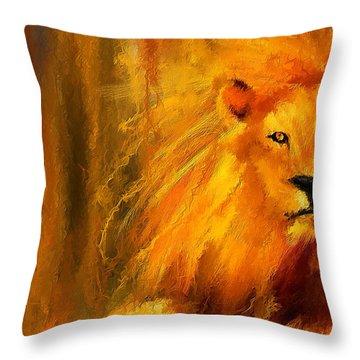 Hail The King Throw Pillow