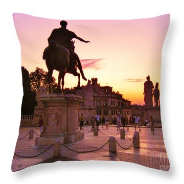 Hail To All The Little Tourists Throw Pillow by John Malone