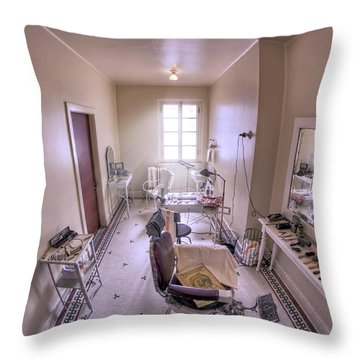 Hair Dressing Room At Fordyce Bath House - Hot Springs - Arkansas Throw Pillow