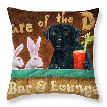 Hair Of The Dog Throw Pillow
