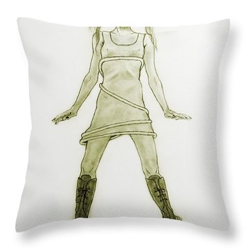 Hairy Boots Throw Pillow