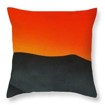 Hakarimata Sunset Throw Pillow