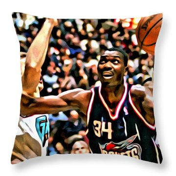 Hakeem Olajuwon Throw Pillow