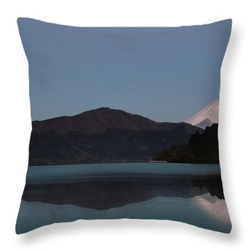Hakone Lake Throw Pillow