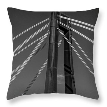 Hale Boggs Memorial Bridge Throw Pillow by Andy Crawford