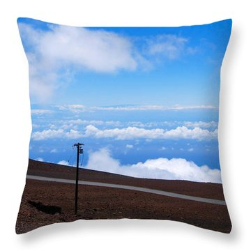 Haleakala's Heaven Throw Pillow