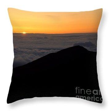 Haleakala Sunrise Throw Pillow by Benjamin Reed
