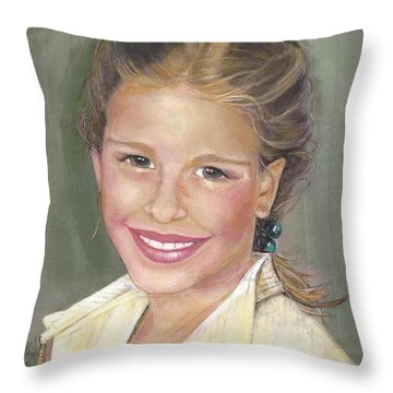 Haley  Throw Pillow by Diane Strain