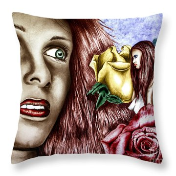 Haleys Apparition Colored Throw Pillow by Peter Piatt