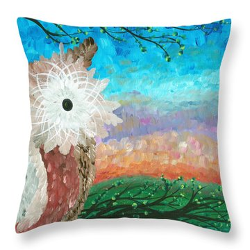 Half-a-hoot 02 Throw Pillow