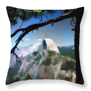 Half Dome Throw Pillow by Barbara D Richards