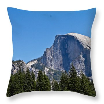 Half Dome Throw Pillow by Brian Williamson