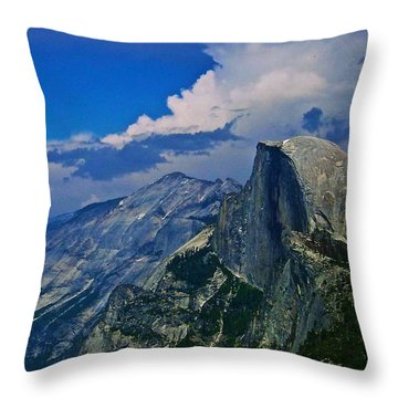 Half Dome From Glacier Point Throw Pillow by Eric Tressler