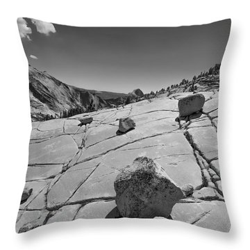 Half Dome From Olmsted Point Throw Pillow by Terry Garvin
