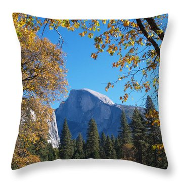 Half Dome In Yosemite Throw Pillow by Alex Cassels