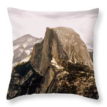 Half Dome Throw Pillow by Kathleen Struckle