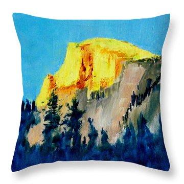 Half Dome Light Throw Pillow by Carol Bower
