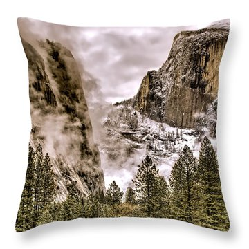 Menacing Rocks Throw Pillow