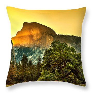 Half Dome Sunrise Throw Pillow