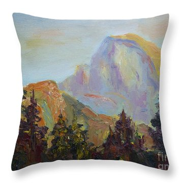 Half Dome View Throw Pillow by Carolyn Jarvis