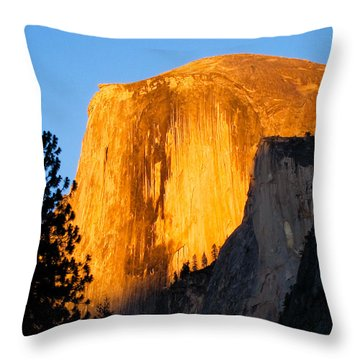 Throw Pillow featuring the photograph Half Dome Yosemite At Sunset by Shane Kelly