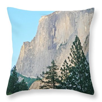 Half Dome Yosemite Throw Pillow by Laurel Powell