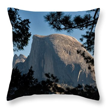 Half Dome, Yosemite Np Throw Pillow by Mark Newman