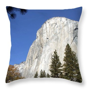 Half Dome Yosemite Throw Pillow by Richard Reeve