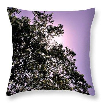 Half Tree Throw Pillow by Matt Harang