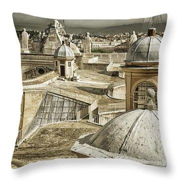Half Way Up Throw Pillow by Joan Carroll
