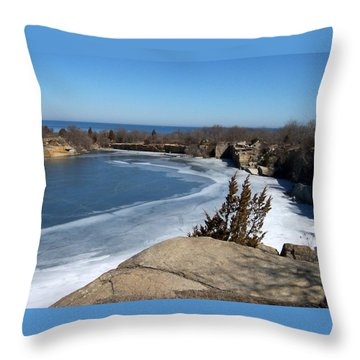 Icy Quarry Throw Pillow by Catherine Gagne