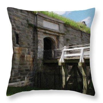 Halifax Citadel Throw Pillow by Jeff Kolker