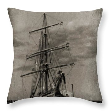 Halifax Harbour Throw Pillow by John Malone