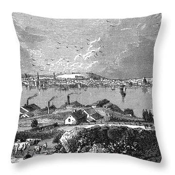 Halifax Ns - 1878 Throw Pillow