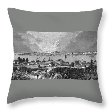Halifax Ns - 1878 Throw Pillow