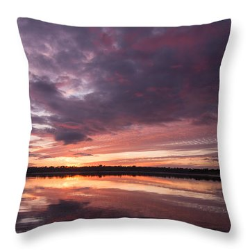 Halifax River Sunset Throw Pillow by Paul Rebmann