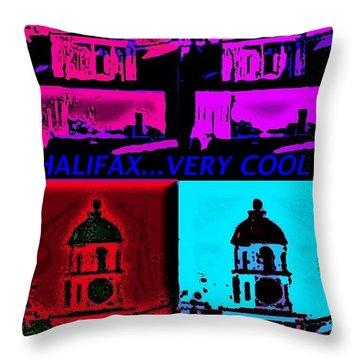 Halifax Very Cool Pop Art Throw Pillow by John Malone