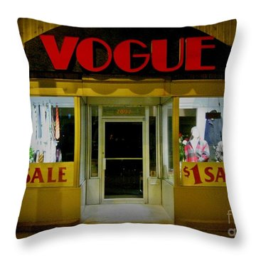 Halifax Vogue Throw Pillow by John Malone