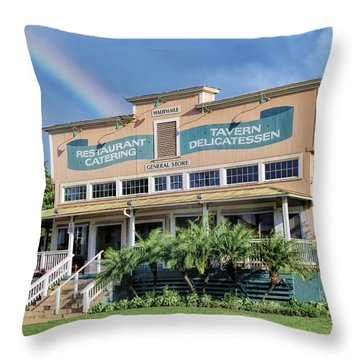 Throw Pillow featuring the photograph Haliimaile General Store 1 by Dawn Eshelman