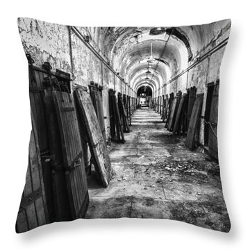 Hall Of Doors Throw Pillow