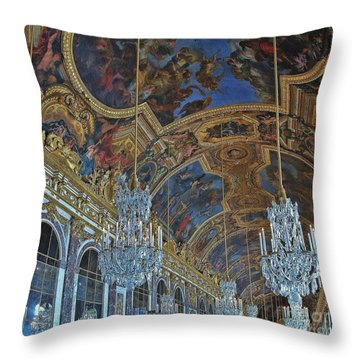 Hall Of Mirrors - Versaille Throw Pillow