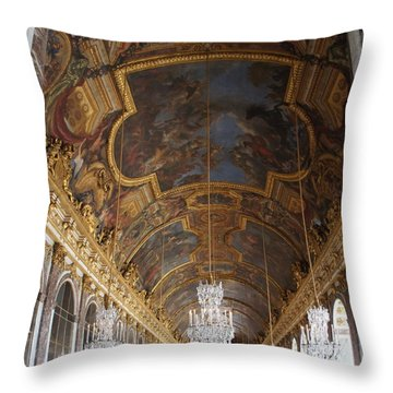 Hall Of Mirrorsversailles Throw Pillow by Kristine Bogdanovich