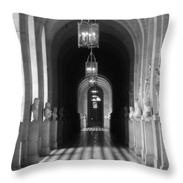 Throw Pillow featuring the photograph Hall Of Sculpture by Meaghan Troup