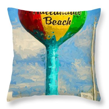 Hallandale Beach Water Tower Throw Pillow